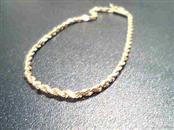 Gold Rope Bracelet 14K Yellow Gold 1.3g